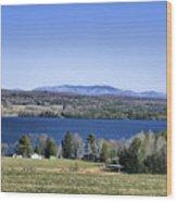 Lake Carmi Campers Delight Wood Print