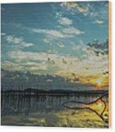 Lake Champlain Vermont Sunrise - 2 Landscape Wood Print
