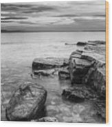 Lake Champlain-vermont-sunrise-storm Wood Print