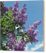 Lake Country Lilacs Wood Print