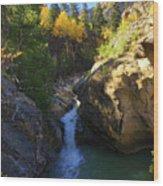 Lake Creek Falls Wood Print
