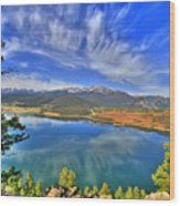 Lake Dillon Blue Wood Print