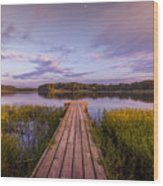 Lake Dock Wood Print