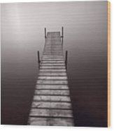 Lake Dock In Michigan Wood Print