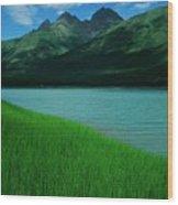 Lake Eklutna Wood Print