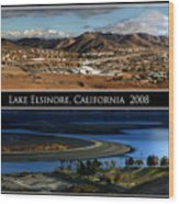 Lake Elsinore  180 Degrees Wood Print