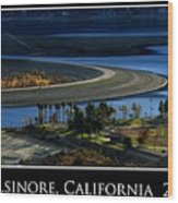 Lake Elsinore Sunset Wood Print