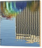 Lake Eola Reflections Wood Print