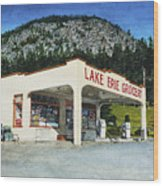 Lake Erie Grocery Wood Print by Perry Woodfin