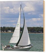 Lake Erie Sailing 8092 Wood Print