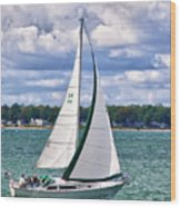 Lake Erie Sailing 8092h Wood Print