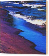 Lake Erie Shore Abstract Wood Print