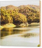Lake Fantana In The Mountans Wood Print