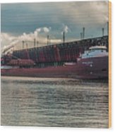 Lake Freighter - Honorable James L Oberstar Wood Print