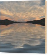 Lake Front Sunset Wood Print