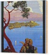 Lake Garda 1920s French Wood Print