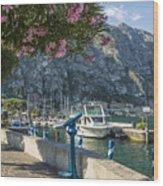 Lake Garda Harbour Of Limone Sul Garda Wood Print