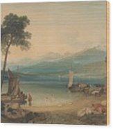 Lake Geneva And Mount Blanc Wood Print