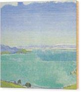 Lake Geneva From The Caux Wood Print