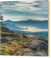 Lake George From Cat Mountain 1 Wood Print