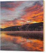 Lake George Sunrise Wood Print