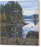 Lake Gustav Adolf Sweden Wood Print