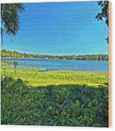 lake Hall in Spring Wood Print