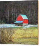 Lake Hallie Barn Wood Print