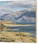 Lake Hawea In New Zealand Wood Print