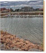 Lake Hefner Dock Wood Print