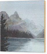Lake Helevorn Wood Print
