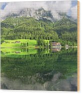 Lake Hintersee Wood Print