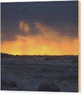 Lake Huron Arctic Blast 2 Wood Print