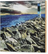 Lake Huron Lighthouse Wood Print