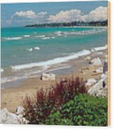 Lake Huron Ontario Wood Print