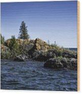 Lake Huron Shoreline Cedarville Michigan Wood Print