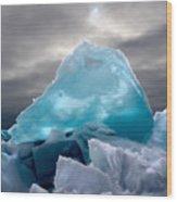 Lake Ice Berg Wood Print