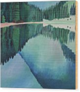 Lake In Austria Wood Print