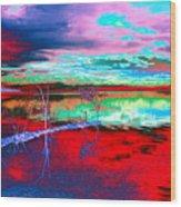 Lake In Red Wood Print