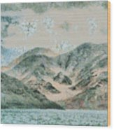 Lake In The Mountains Wood Print