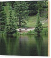 Lake Irene Dressed In Green Wood Print