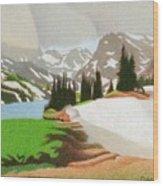 Lake Isabelle Storm Wood Print