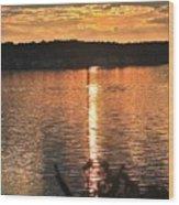 Lake James Wood Print