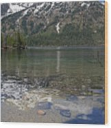 Lake Jenny Grand Tetons Wood Print