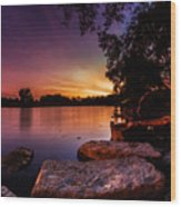 Lake Kirsty Twilight Wood Print