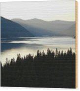 Lake Koocanusa  Evening Sun Wood Print
