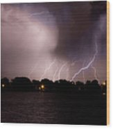 Lake Lightning 3 Wood Print