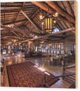 Lake Lodge Interior Yellowstone Wood Print