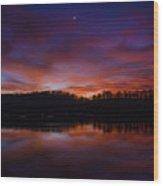 Lake Logan Sunset, Ohio Wood Print