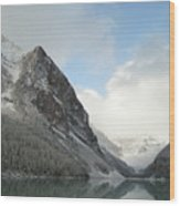 Lake Louise After First Snowfall  Wood Print